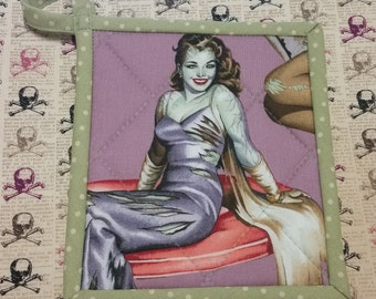 Zombie Pinup Glam Pot holder