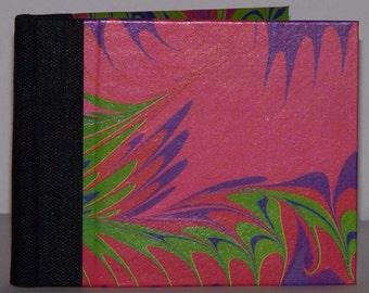 little pink marbled blank book/journal/sketchbook
