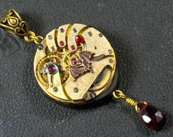 Pendant, steampunk, clock, watch case