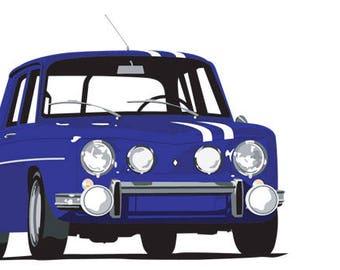 Renault R8 Gordini giclee art print