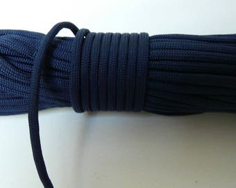 Rope paracord, Navy Blue 550 Paracord rope 4 mm 7 strand by the yard