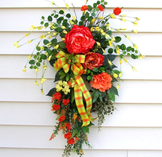 Fall Wreath Swag Fall Door Swags Fall Swag For Front Door