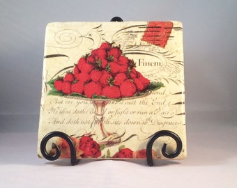 Strawberries Trivet ( hot pad )