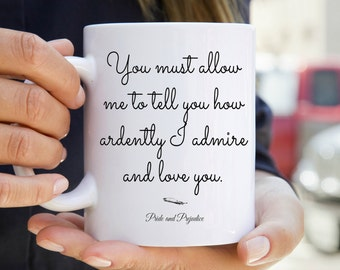 Pride & Prejudice Mug - Bookish Quote Mug