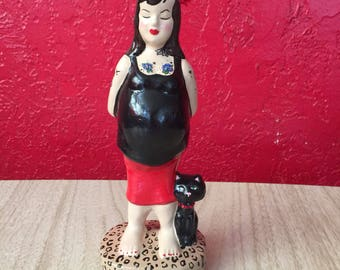 I Should Have Danced All Night ~ ReVamped Vintage Tattooed & Knocked Up Novelty Figurine