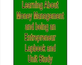 Money Management Entrepreneur for Kids Teens Lapbook Unit Study