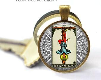 THE HANGED MAN Tarot Card • Sacrifice • Letting Go • Spiritual Guidance • Key Ring • Key Chain • Gift Under 20 • Made in Australia (K753)