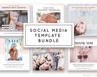 Social Media Templates for Photographers - Instagram Templates - Facebook Templates