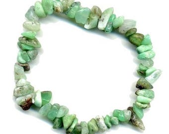Baroque bracelet with chrysoprase