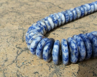 Necklace Hand Made  Sodalite graduated  22""