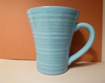 Mug, Teal w/ brown rim, Made in Portugal