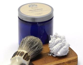 Ultramarine Shave Cream; All Natural Whipped Shaving Cream with bentonite clay