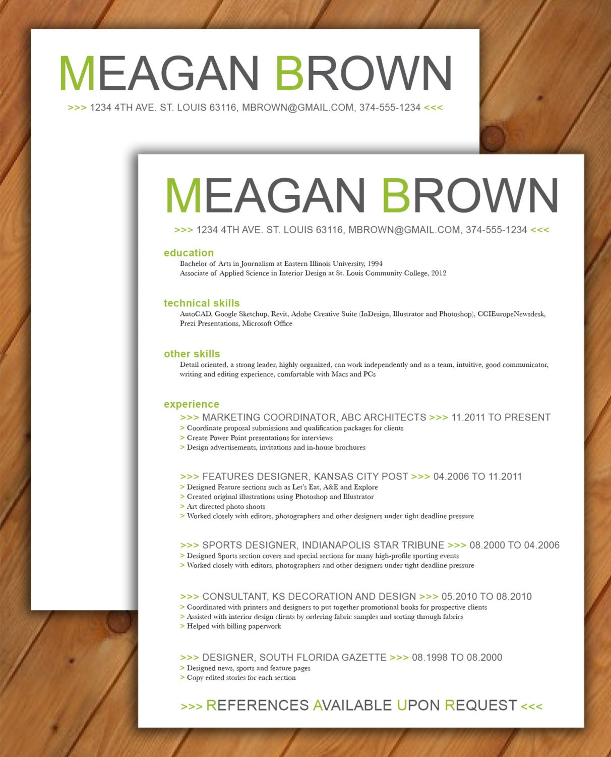 zoom - Resume Template Color
