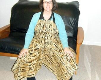 Pottery Apron Split Leg Panel Dark Prairie Grass Camouflage