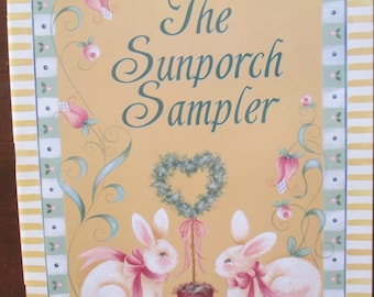 """Folk Art 1997 Decorative book """" The  Sunporch Sampler  """" by Sherry Brant and Rosemary West and Carol Witt 50 pages used book"""