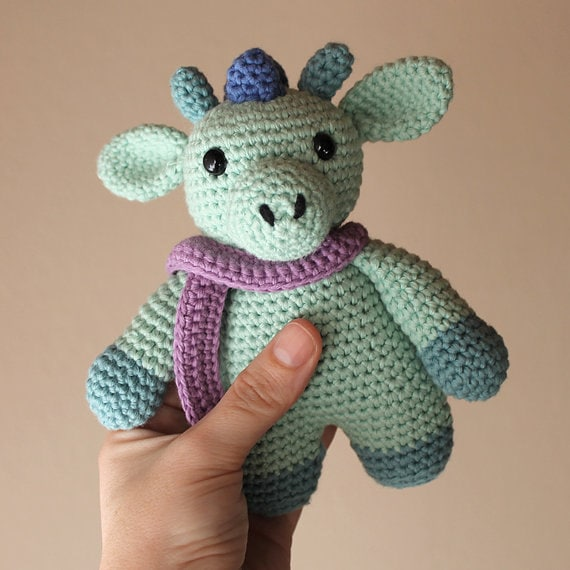 Dragon -Animalius. Crochet Doll, Amigurumi Toy, Crocheting, Made to Order, Animal Crochet, Cute Children Gift, Nursery Doll, DIY, Art Crafts