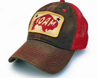 Everyday Trucker Hat Roaming Buffalo, Brown