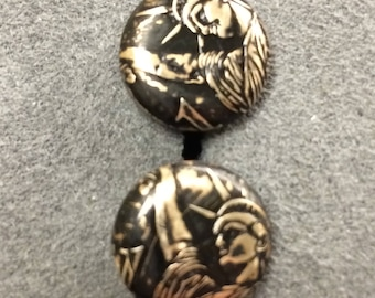 Lady Liberty cuff links made from coins