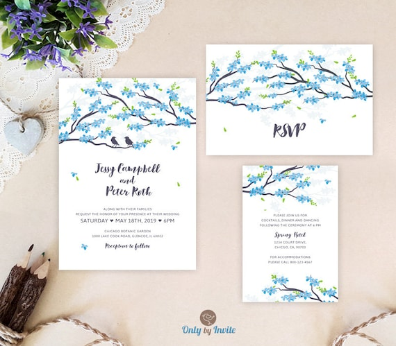 Cheap Blue Wedding Invitations: Cheap Wedding Invitation Sets Blue Wedding Invitations
