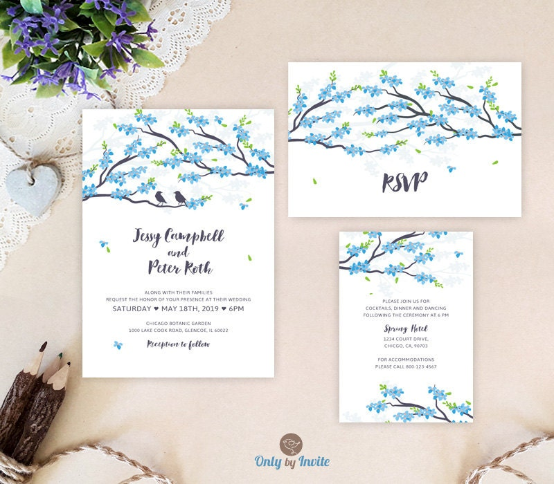 Cheap Online Wedding Invitations: Cheap Wedding Invitation Sets Blue Wedding Invitations