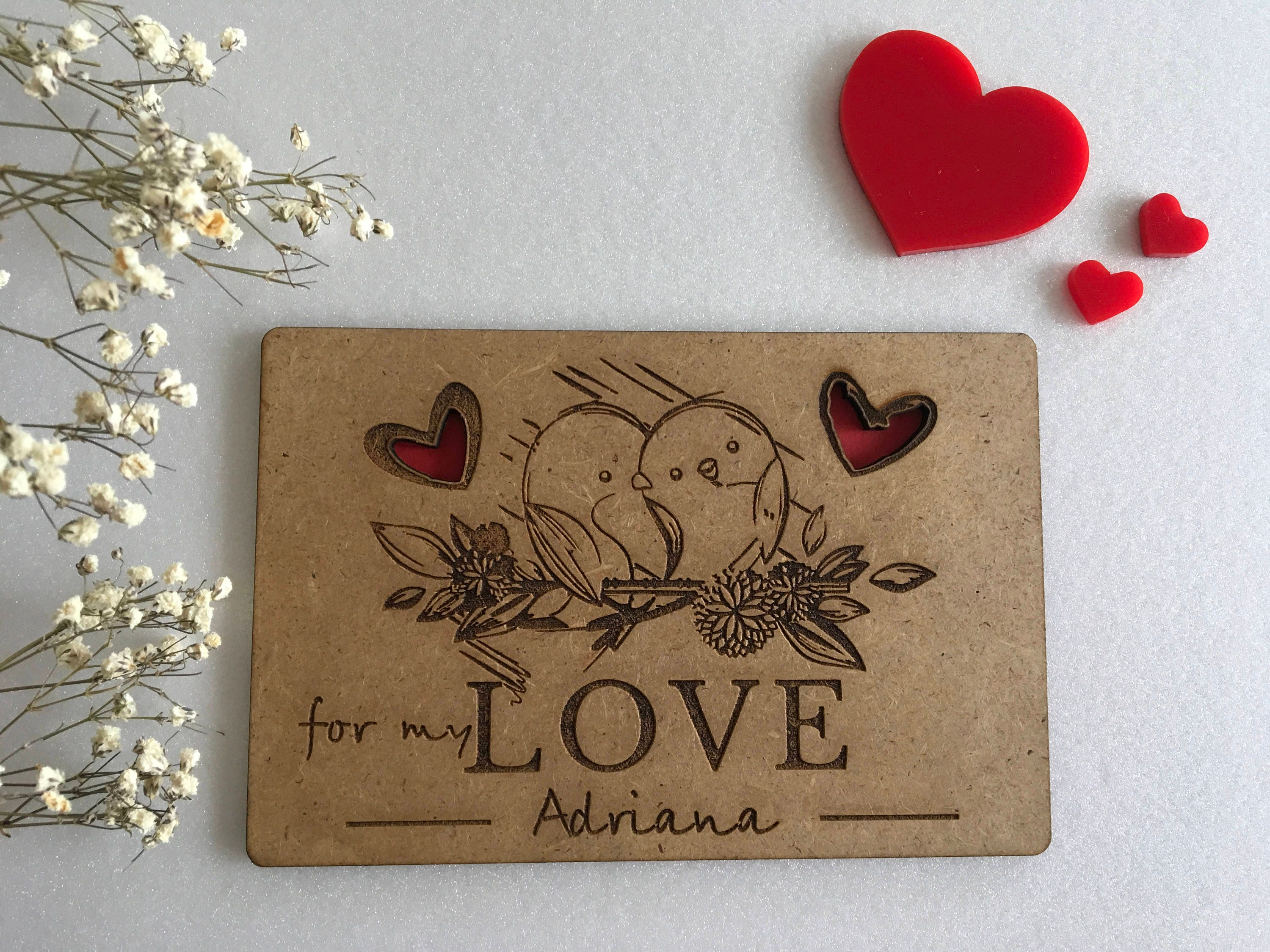 valentines day custom greeting cards laser cut love card