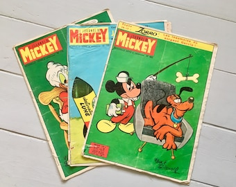 "French Vintage 1960s ""Le Journal de Mickey"" Comics"