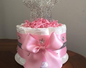 Twinkle Twinkle little star diaper cake, Twinkle Twinkle little star baby shower, Mini diaper cakes, Diaper cakes, Baby shower