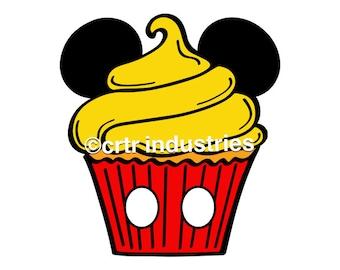 99c SALE! Disney Mickey Mouse Cupcake / Iron On Image