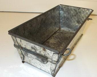 Rustic Vintage French collapsible Baking Tin, Cake Tin Loaf Tin Dismantles (4674