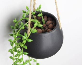 Simple Hanging Planter, Hanging Terrarium, Ceramic Planter, Succulent Planter,Fairy Garden Decor,DIY Terrarium,Home Decor, Garden Tools