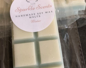 The white co Dupe winter highly scented soy wax melt snap bar