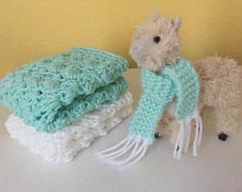 Handmade Crochet 100% cotton dishcloth/washcloth/spa cloth
