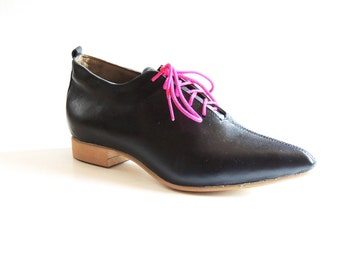 SALE 50% Off Carrie Black Leather Oxford