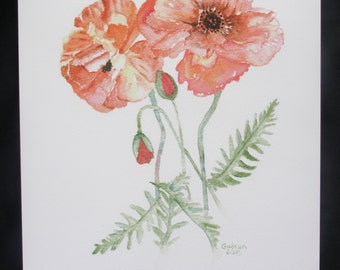 9 X 12 Red Poppies Print