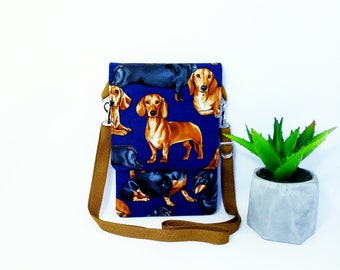 Small crossbody bag for phone compact carry bag dog print travel small pocket for phone bright bag with pocket phone purse cell phone wallet
