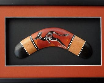 Framed boomerangs -  8, 10, 12 and 14 inches in size
