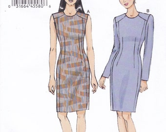 FREE US SHIP Vogue 9019 Sewing Pattern Dress Tuck Sleeveless 2014 Size 6/14 14/22  Bust 30 32 34 36 38 40 42 44 Plus Uncut