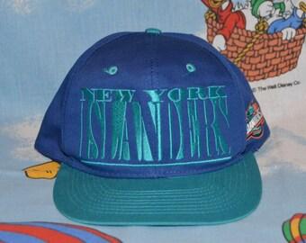Vintage 1990's New York Islanders Hat!!! Retro Logo 7 Snapback!!!