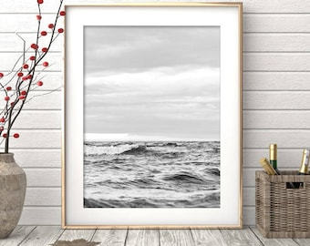 Black and White Photography, Ocean Wall Art, Waves Photo Print, Ocean Print, Large Wall Art, Water Art, Wave Wall Art, Sea Wall Art