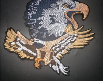 Eagle embroidered applique patch Vintage bird patch Clothing decoration patch