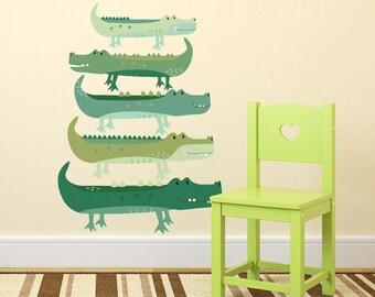Fabric Crocodile Wall Stickers