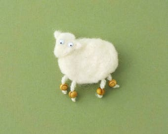 Felt fridge magnet sheep