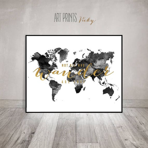 Black and white world map map art print large world map te gusta este artculo gumiabroncs Image collections