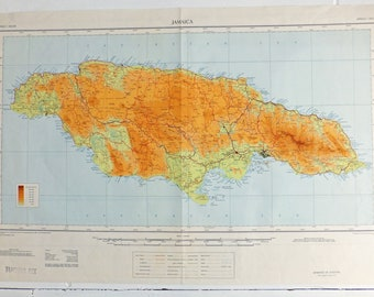 Large Jamaica map, Map of Jamaica, Caribbean map, Kingston, travel, island map