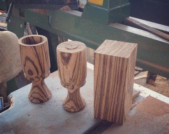 Zebra Wood Shot Glasses