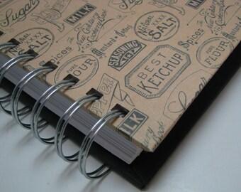Meal Planning - Meal Planner - Weekly Meal Planner - Menu Planner - Dinner Menu - Meals Organizer - Menu Planning - Vintage Food Label Cover