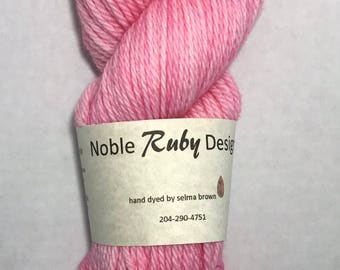 Hand dyed SW Merino worsted - It's a girl!