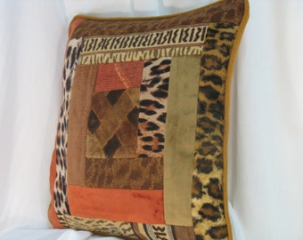 """Abidjan"" patchwork pillow cover"
