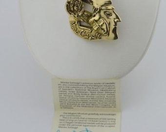 14k Yellow Gold Marika Somogyi Chagall Centennial Pendant 79.1 Grams