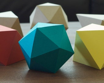 Ten Pack of Geometric Gift Boxes -- Many Colors - DIY Kit